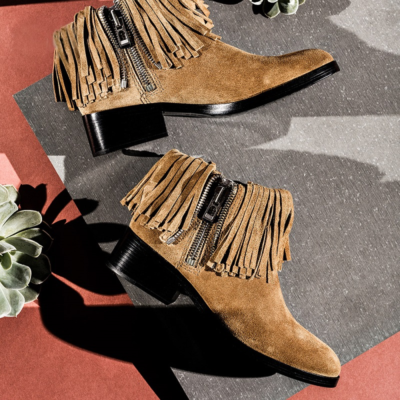 3.1 Phillip Lim Alexa Fringe Suede Ankle Booties