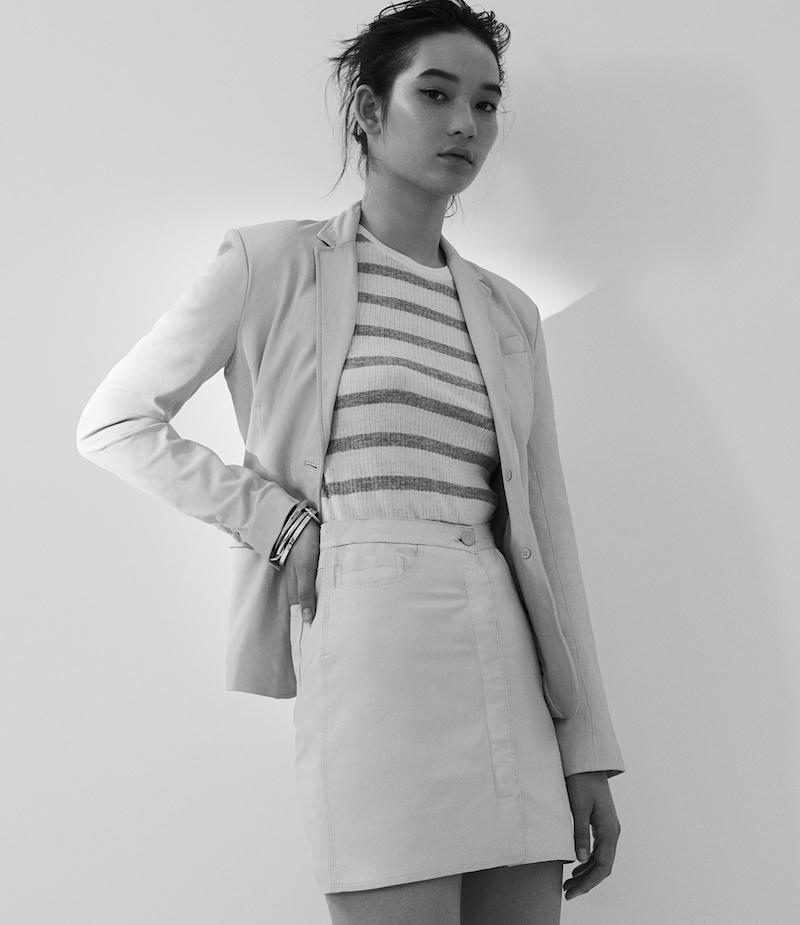 ATM Anthony Thomas Melillo Leather A-Line Miniskirt