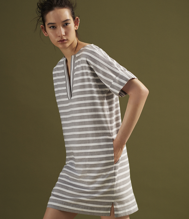 ATM Anthony Thomas Melillo Striped Shift Dress