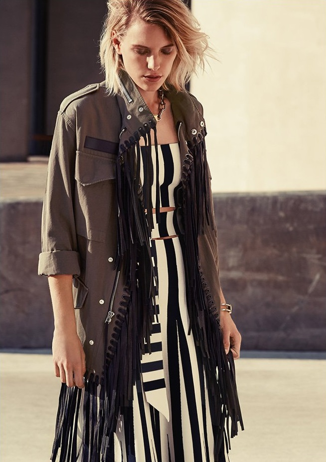 Alexander Wang Parka with Fringe