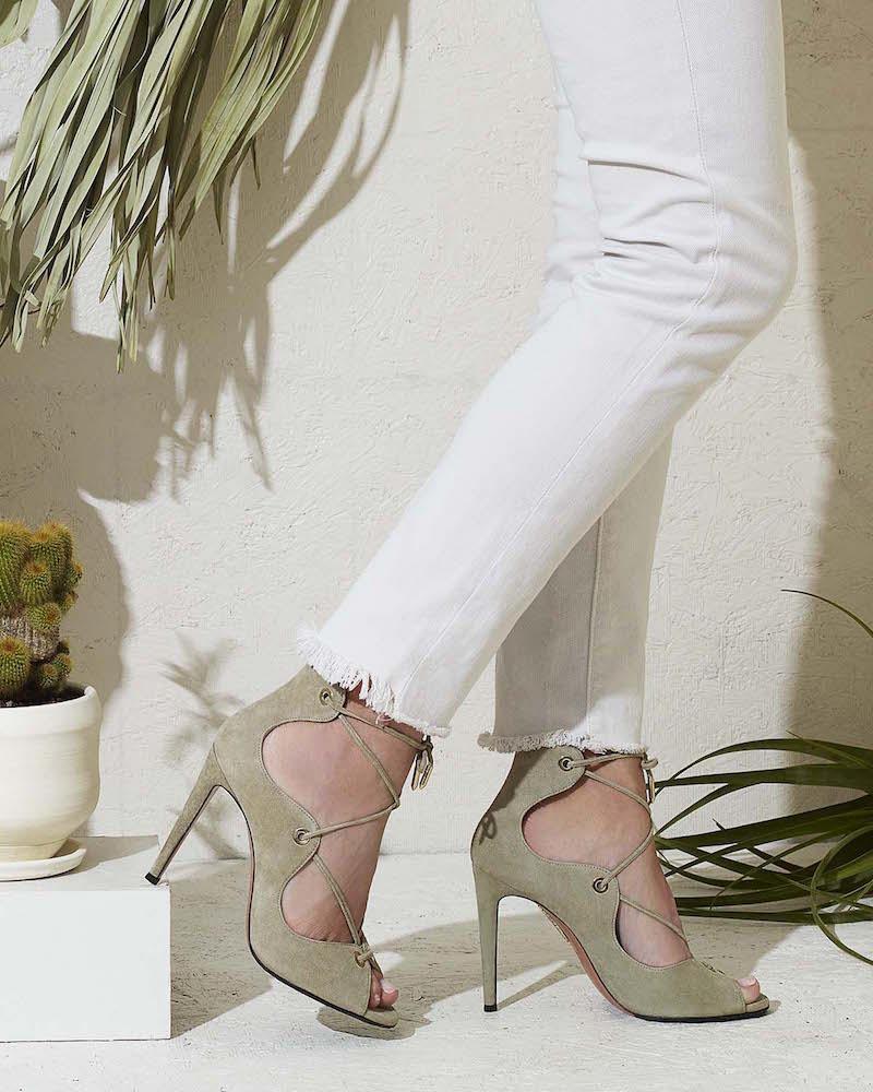 Aquazzura Tango Lace-Up Sandals