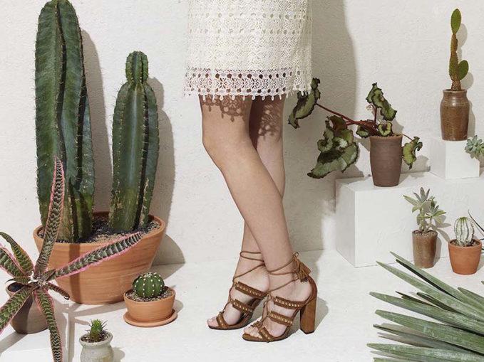 Aquazzura Tulum High Lace-Up Sandals