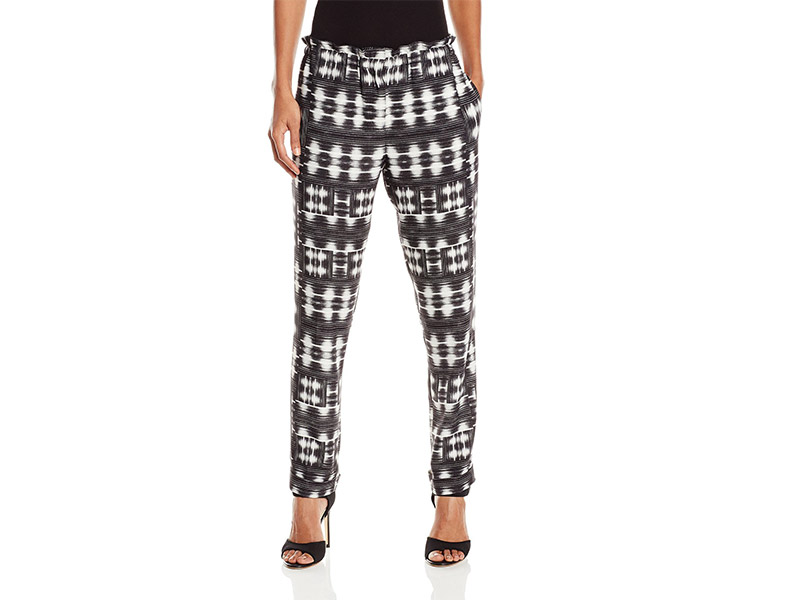 BCBGMAXAZRIA Pierre Printed Cropped Carrot Pant