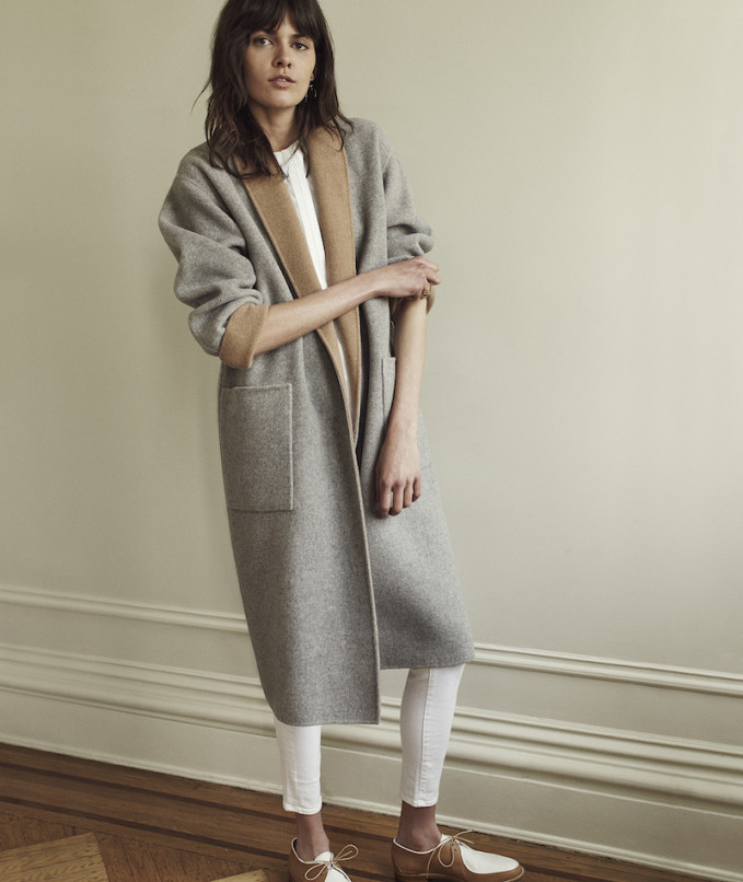 Barneys New York Double-Faced Reversible Coat