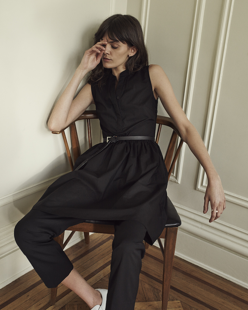 Barneys New York Poplin Sleeveless Dress