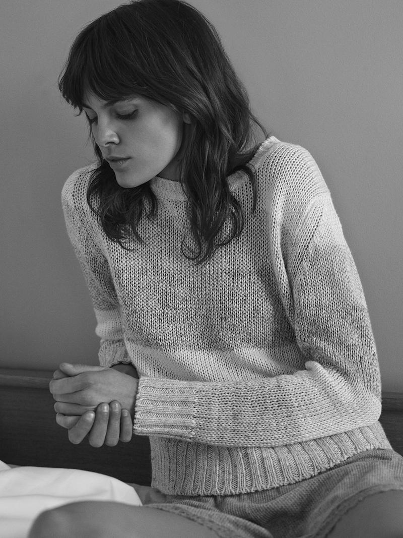 Barneys New York Rib-Knit Crop Sweater