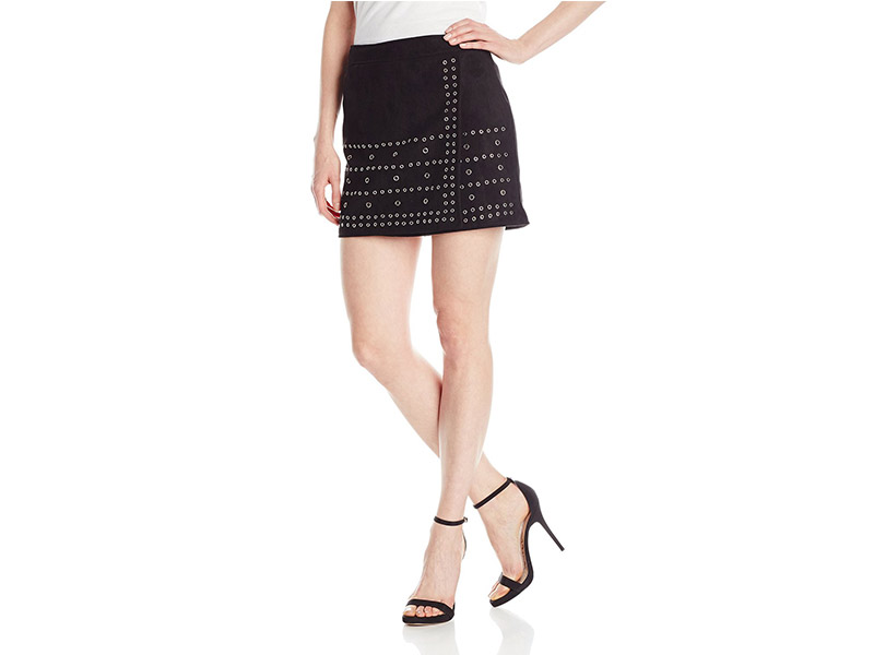 Buffalo David Bitton Charley Faux Suede Skirt with Grommets