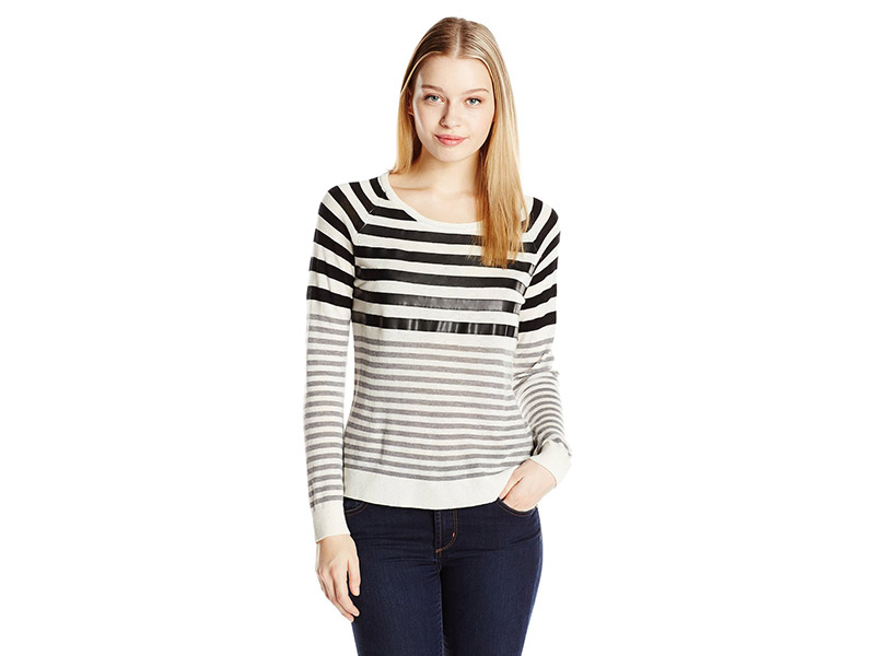 C&C California Wool-Blend Stripe Sweater