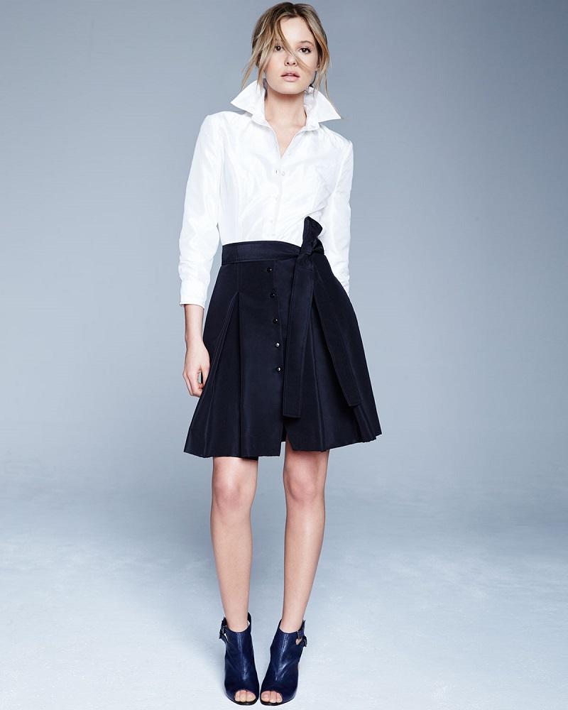 Carolina Herrera Colorblock Trench Dress