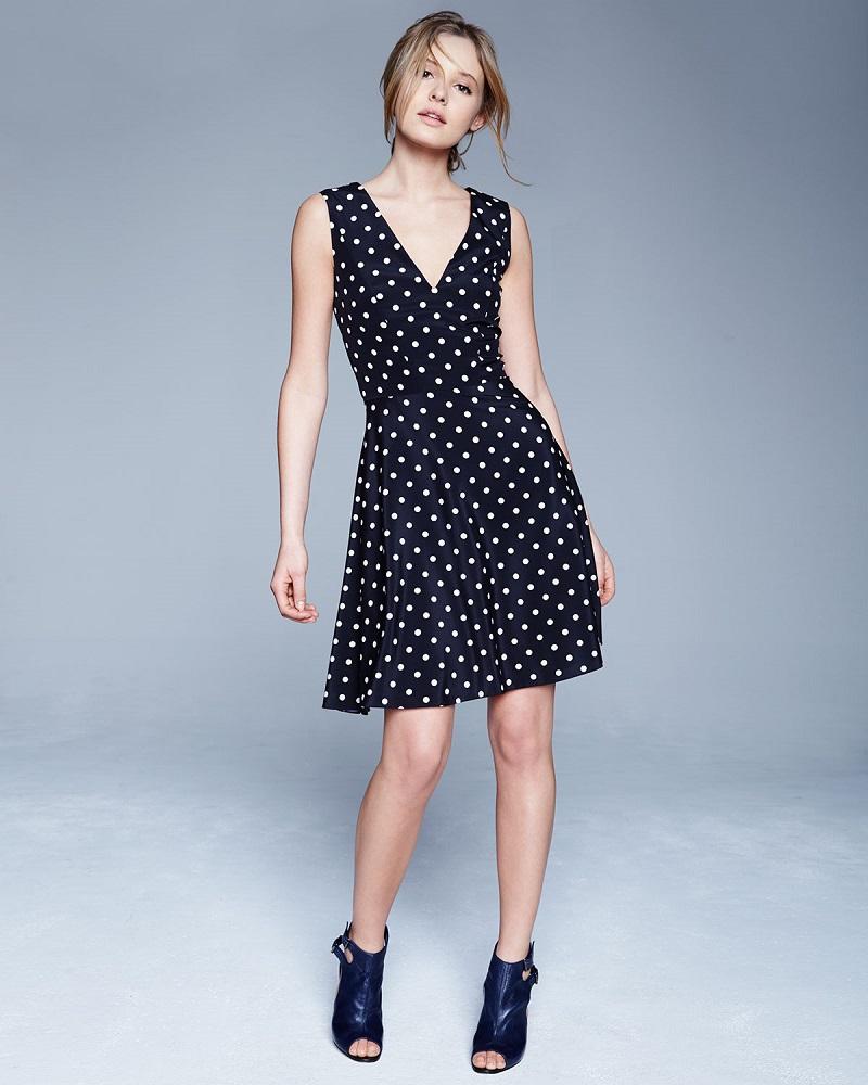 Carolina Herrera Polka-Dot Fit-&-Flare Dress