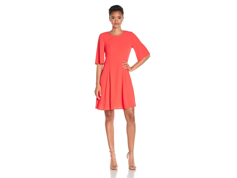 CeCe by Cynthia Steffe Emery Elbow Sleeve Seamed Dress