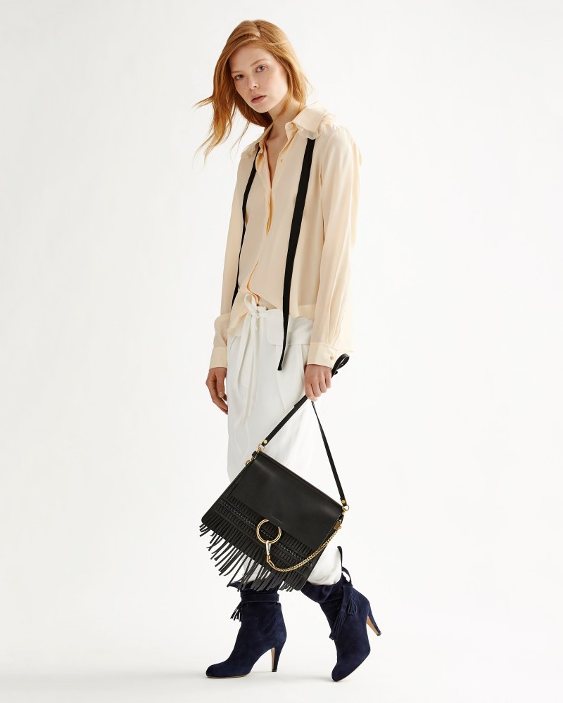 Chloé Faye Medium Fringe Shoulder Bag