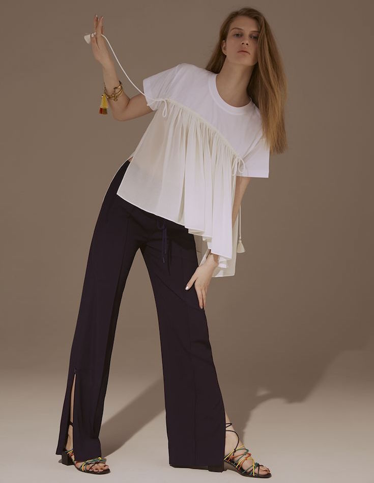 Chloé Slim-leg Cady Track Trousers