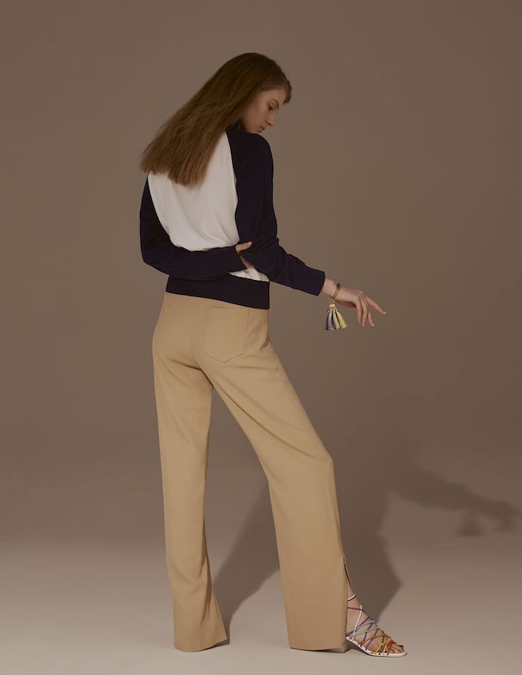 Chloé Bi-colour Crepe Track Jacket