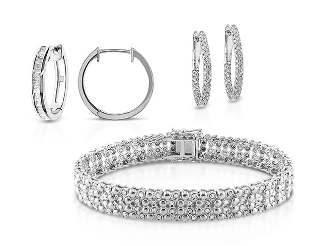Diamond Bracelets & Hoop Earrings at MYHABIT