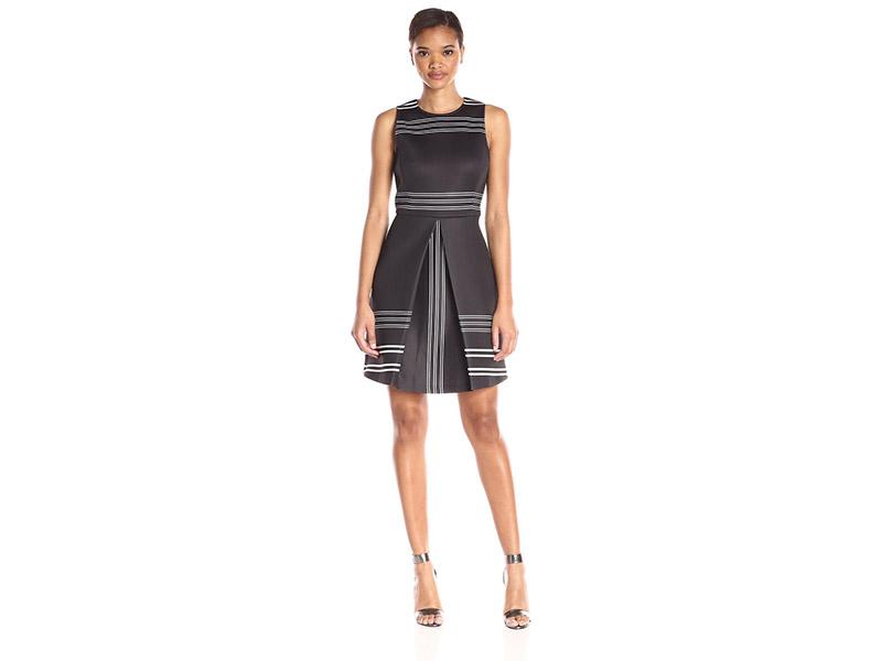 ERIN erin fetherston Striped Neoprene Claremont Dress
