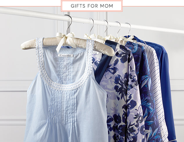 Gifts for Mom Sleepwear feat. Oscar de la Renta at MyHabit