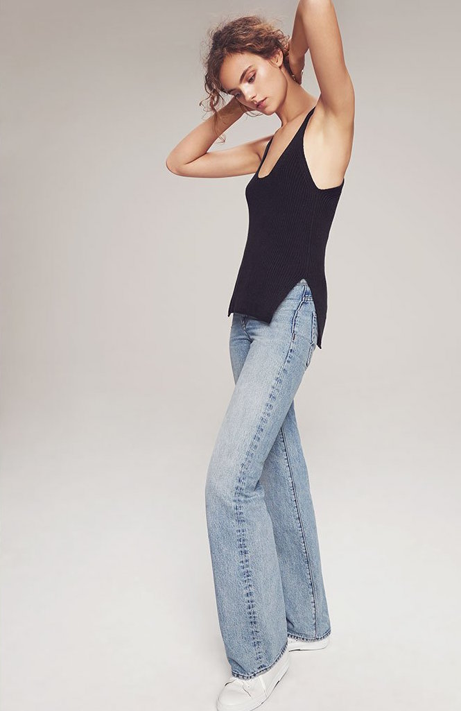 Helmut Lang No Pocket High Rise Jeans