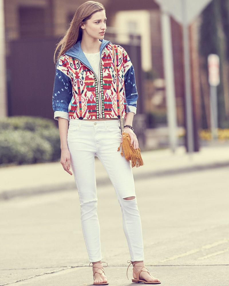 Hiche Mexican Hand-Embroidered Short Jacket