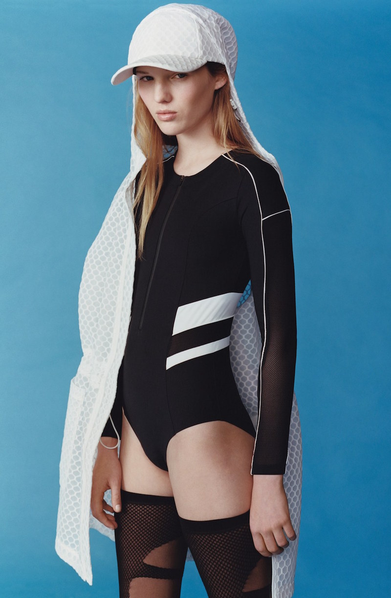 IVY PARK Hexagon Mesh Parka