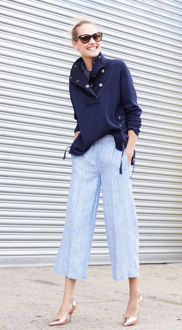 J.Crew Garment-dyed crepe-cotton popover sweater
