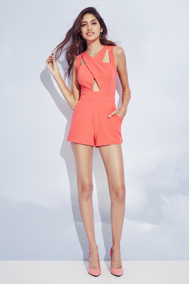 J.O.A. Cutout Detail Sleeveless Romper