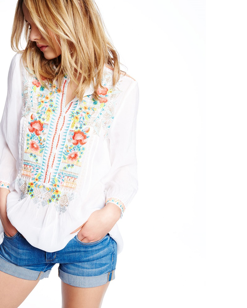 Johnny Was Collection Mandala Embroidered Tunic-