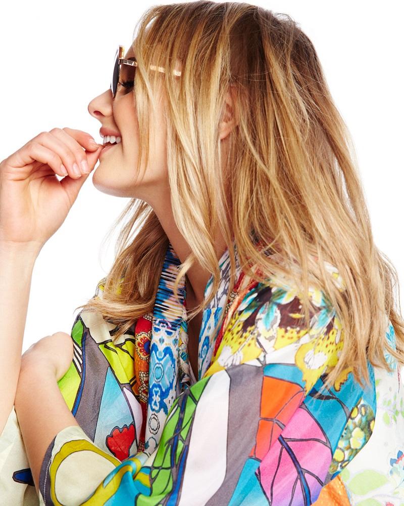 Johnny Was Collection Mix-Print Kimono Jacket