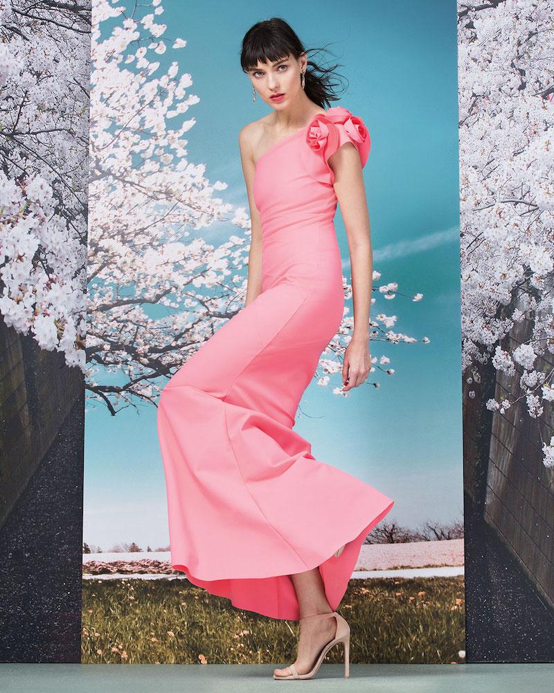 La Petite Robe di Chiara Boni Enrica One-Shoulder Column Gown