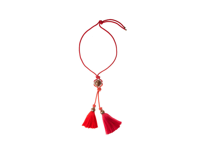 Lanvin Bi-colour Tassel Rope Necklace