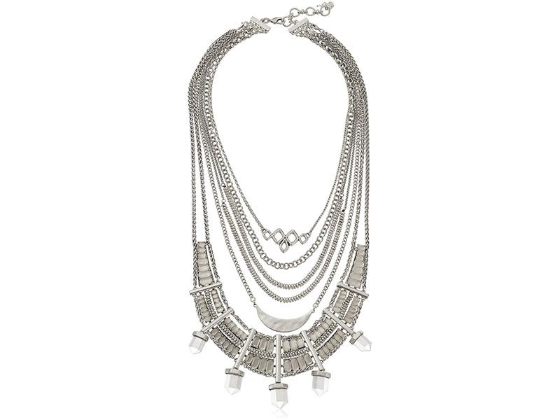 Lucky Brand Major Bib Silver-Tone Necklace