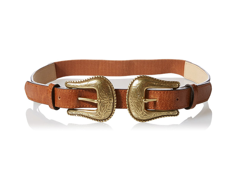 Madden Girl Double Buckle Western Stretch Belt