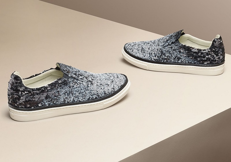 Maison Margiela Sequined Slip-On Sneakers