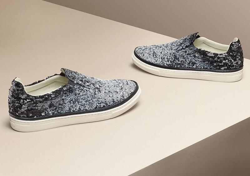 Maison Margiela Sequined Slip-On Sneakers