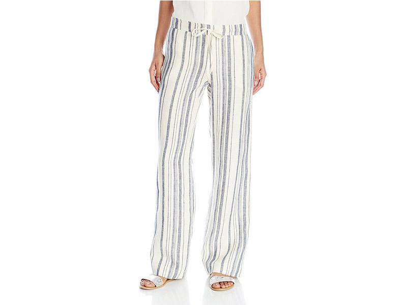 Michael Stars Vertical Stripe Linen Wide Leg Pant