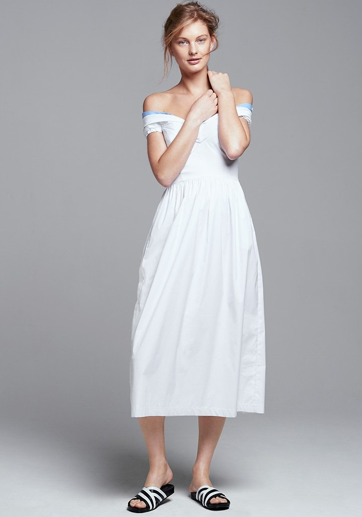Milly Cotton Stretch Poplin Louise Dress