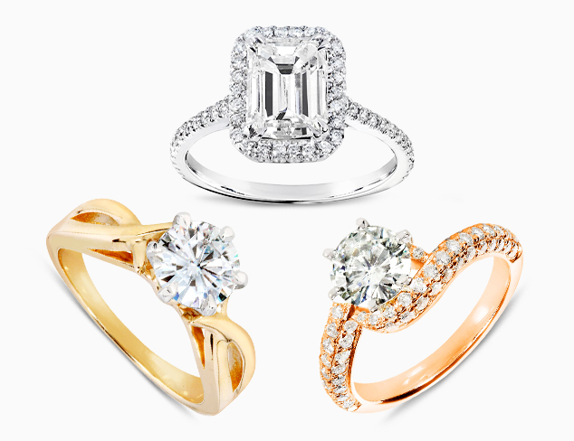 Moissanite & Diamond Engagement Rings at MyHabit