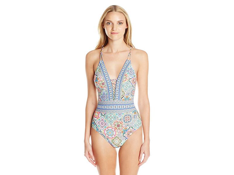 Nanette Lepore Greek Tiles Goddess One-Piece Swimsuit