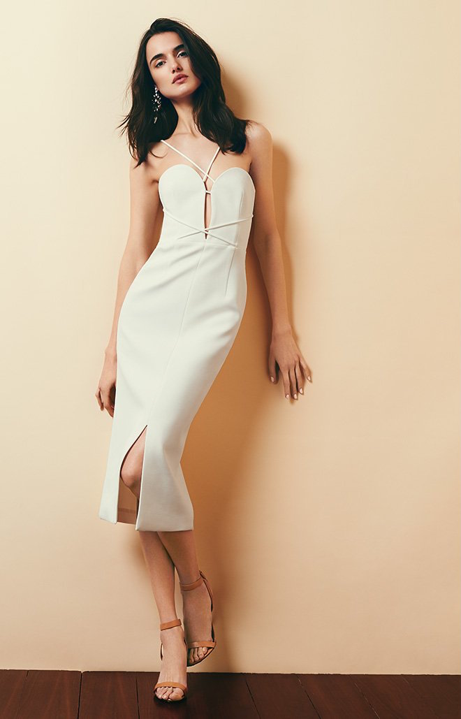 Nicholas Bandage Plunge Rouleau Dress