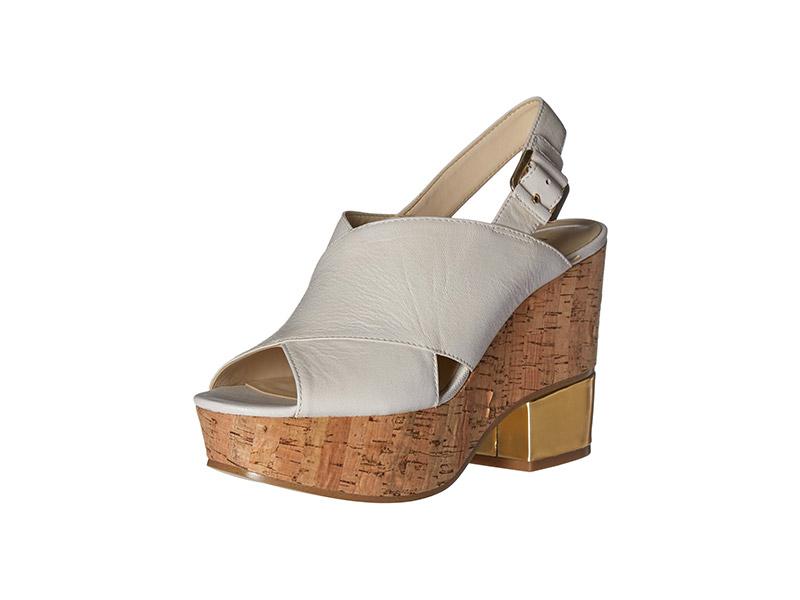 Nine West Imena Leather Wedge Sandal