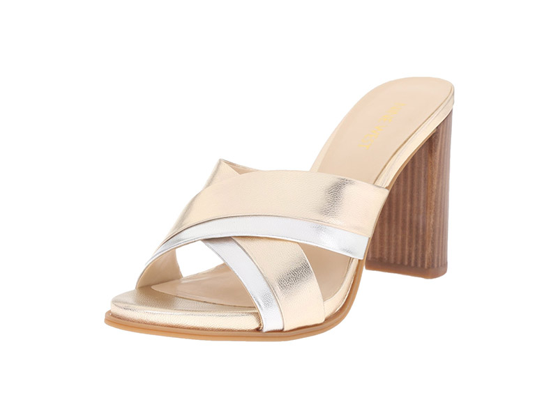Nine West Philomyna Metallic Dress Sandal