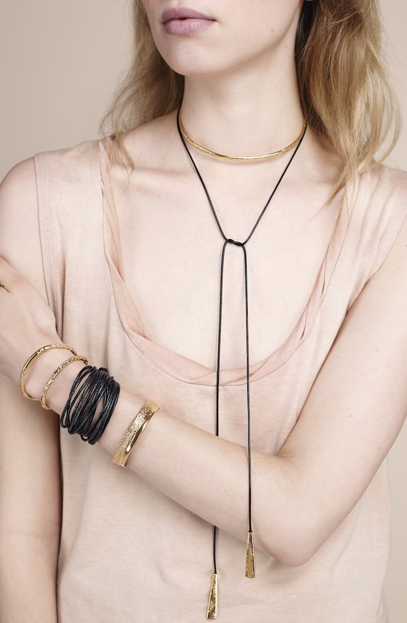 Nordstrom Collar & Cord Lariat Necklace