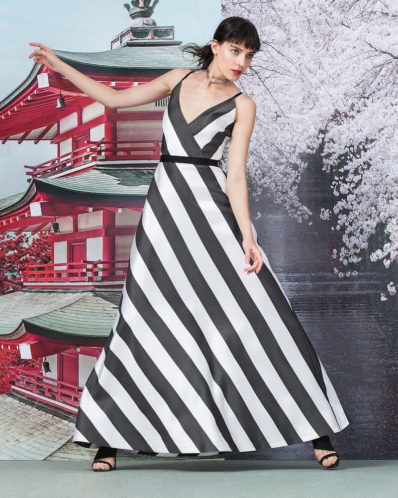 Phoebe Sleeveless A-line Striped Dress