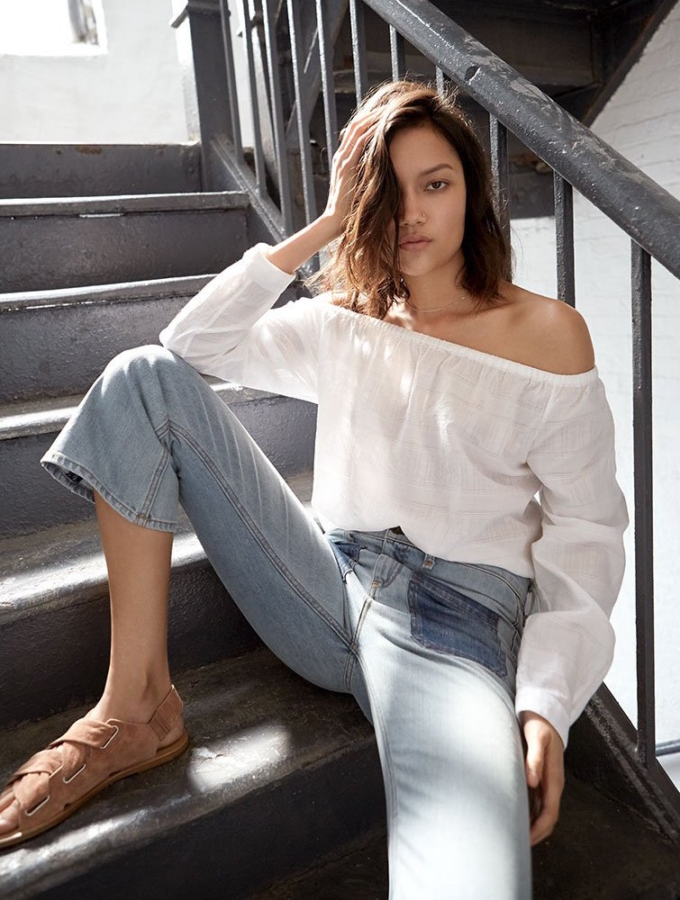 Rag & Bone/JEAN Off Shoulder Shirt
