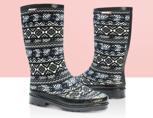 Rainboots feat. Muk Luks at MyHabit
