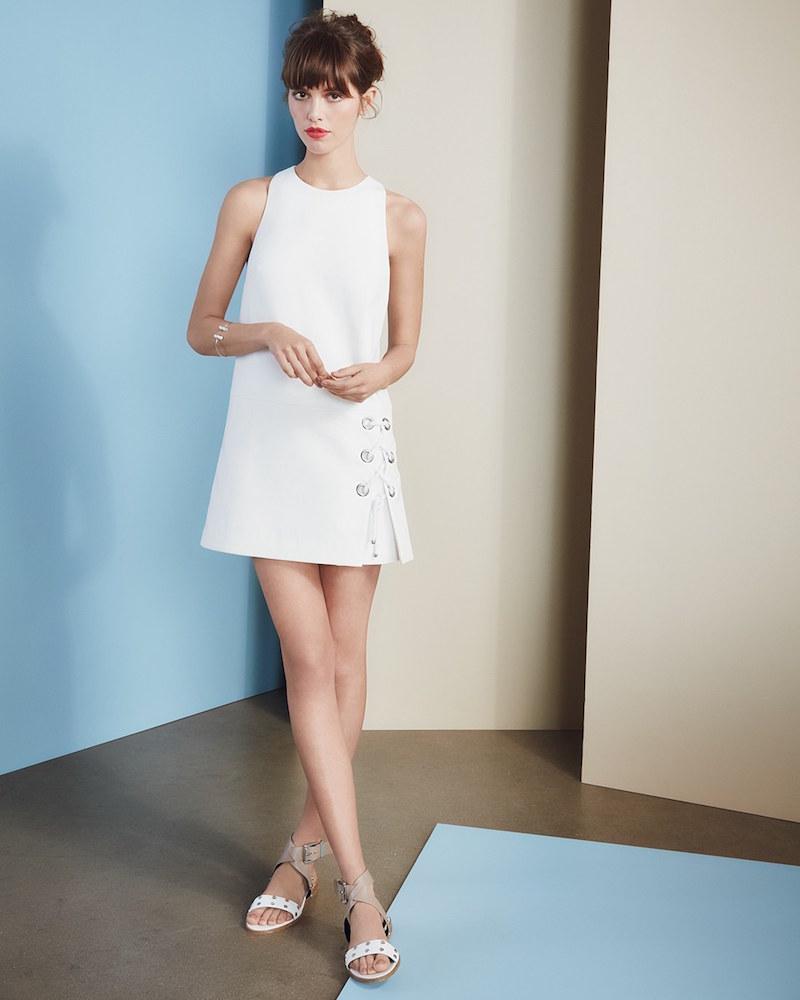 Rebecca Minkoff Silva Lace-Up Minidress