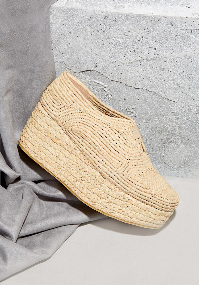 Robert Clergerie Pinto Woven-raffia Lace-up Flatform Shoes