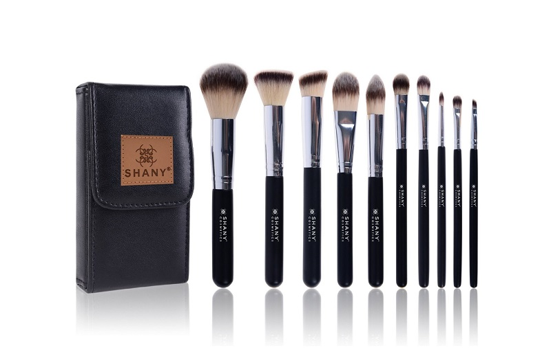 SHANY Ombre Pro 10 Piece Essential Brush Set with Travel Pouch