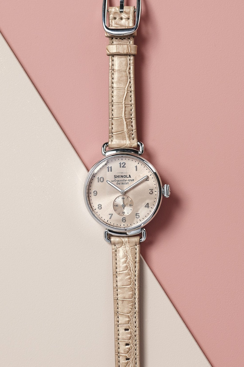 Shinola The Canfield 38mm Leather Strap Watch