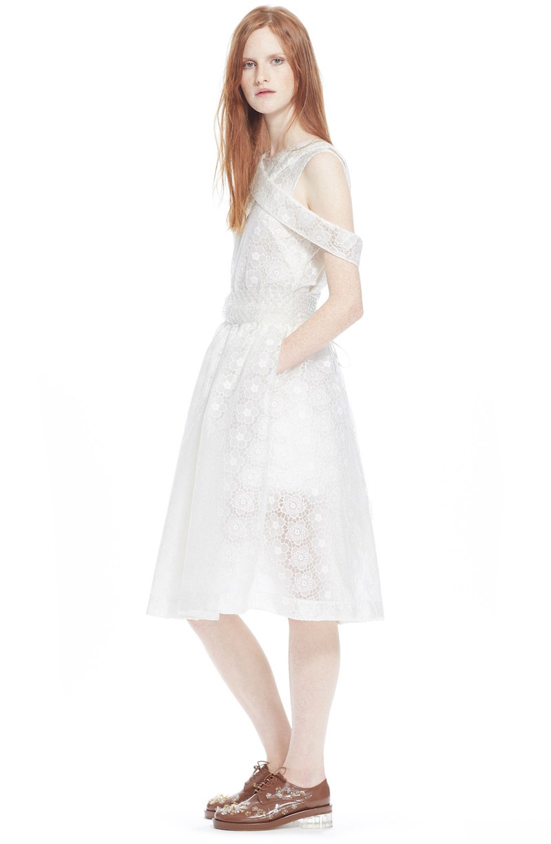 Simone Rocha Bonded Lace Fit & Flare Dress